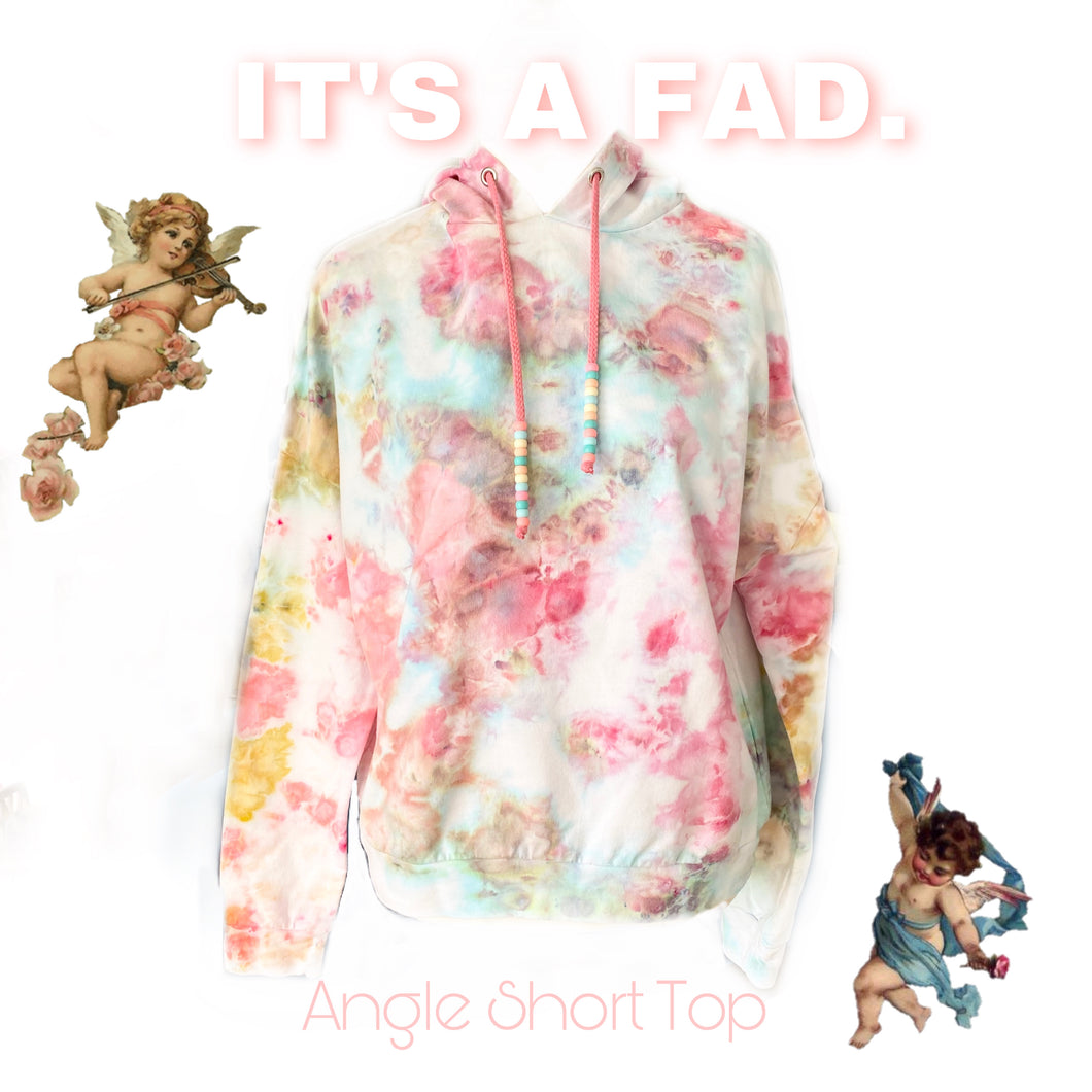 Angel Short Top - ice dye hoodie