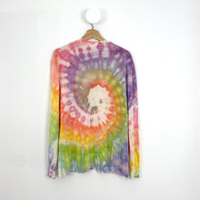 Load image into Gallery viewer, Rainbow Cashmere V neck Sweater Medium