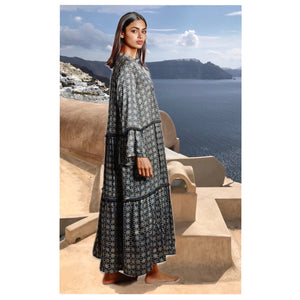 The Maxi Ajrakh Tiered Dress
