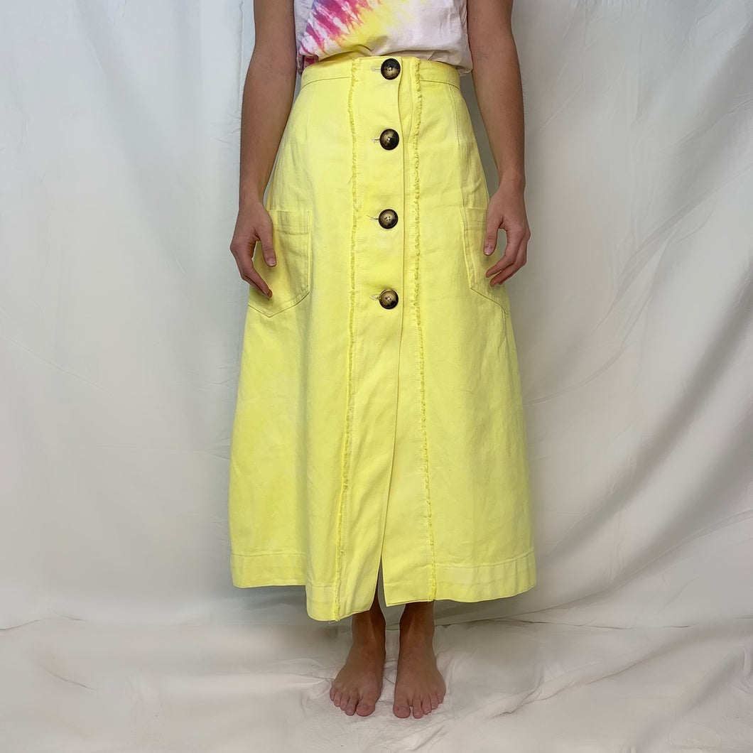 Long Skirt- Limoncello Yellow Skirt
