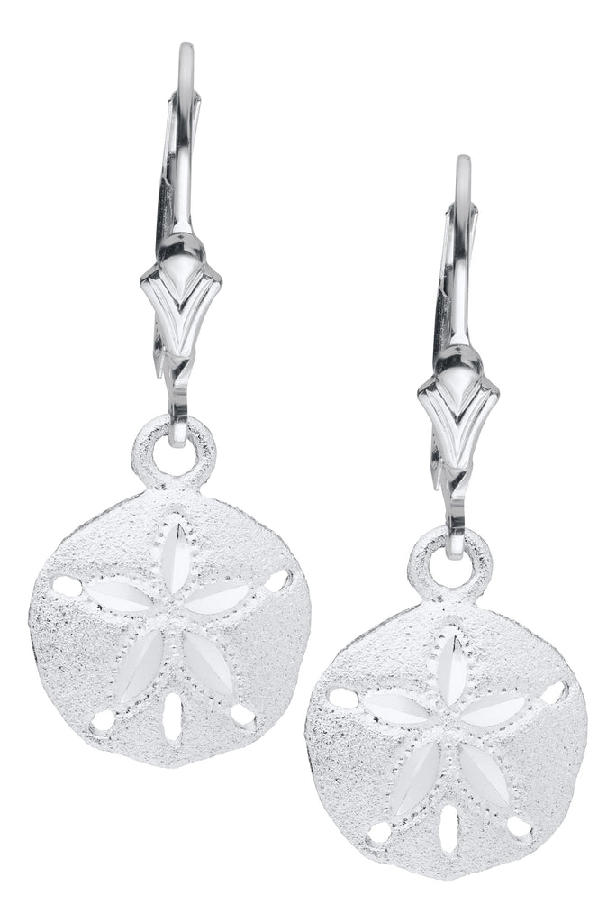 Sand Dollar Leverback Earrings