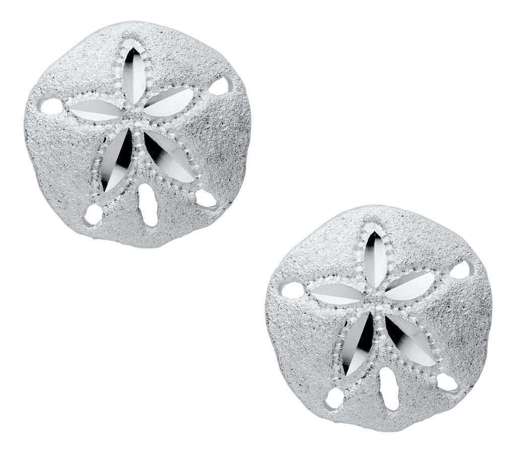 Small Sand Dollar Stud Earrings