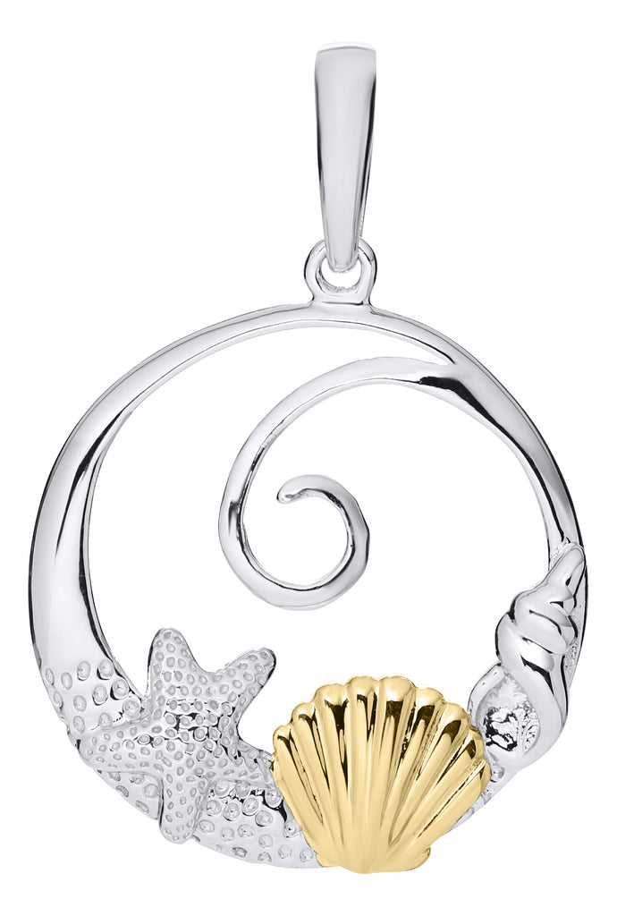 14KT Two Tone Sea Life Pendant