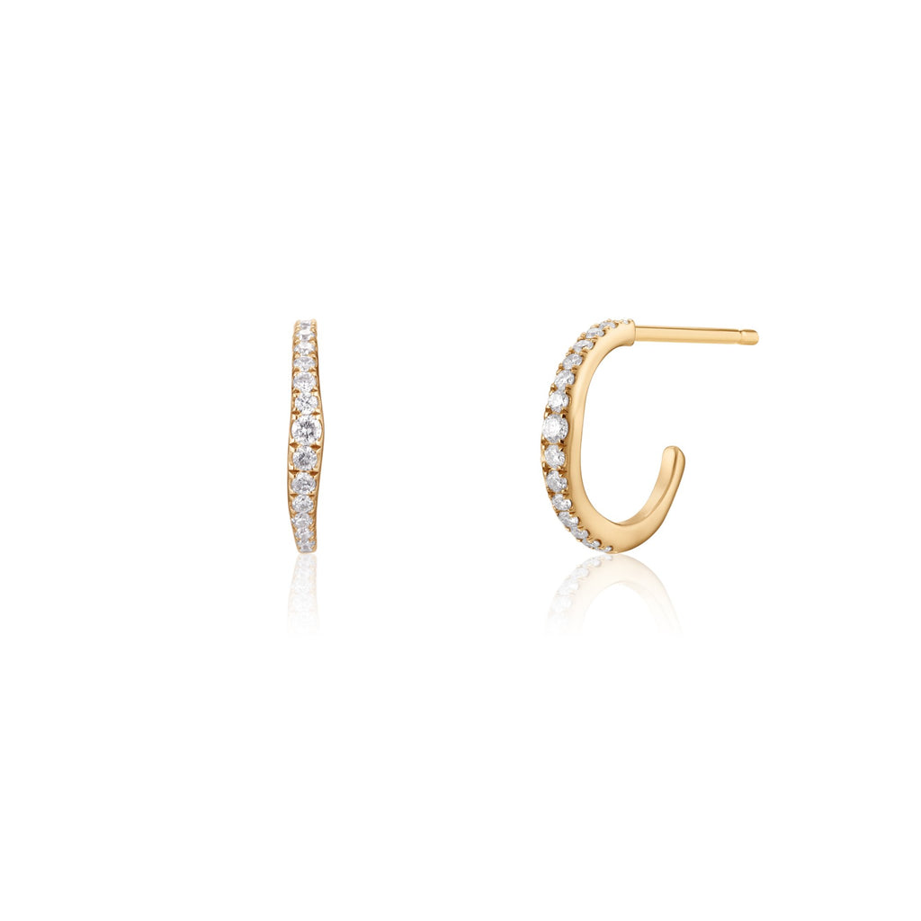RACHEL | Diamond Hoops