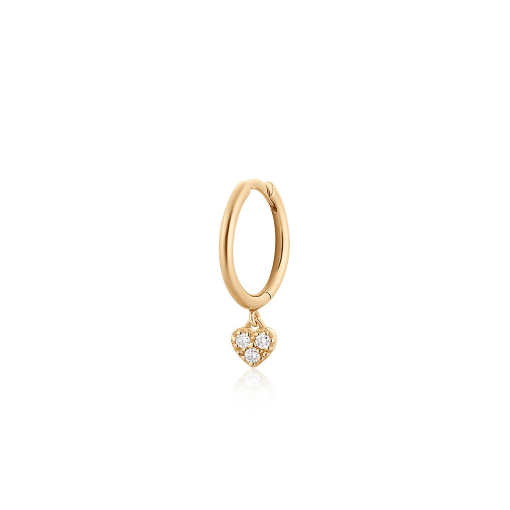 SOPHIE | Single Diamond Heart Hoop
