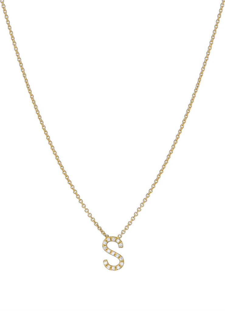 "16"" Diamond Initial Necklace"