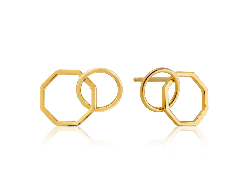 Two Shape Stud Earrings