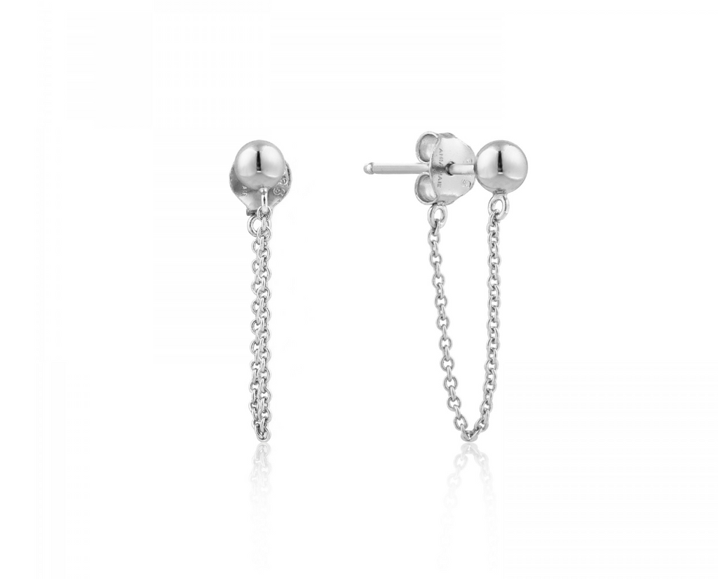 Modern Chain Stud Earrings