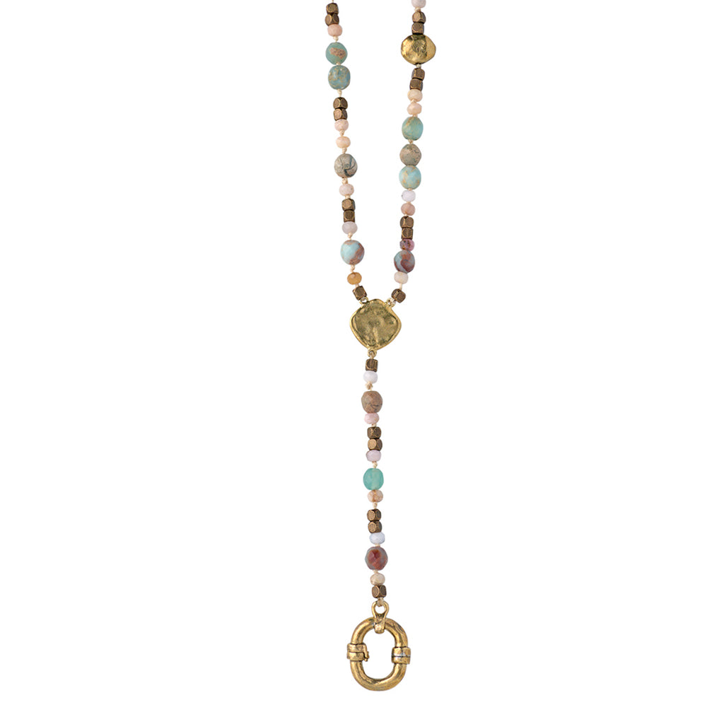 Evolution Y Necklace - Opal