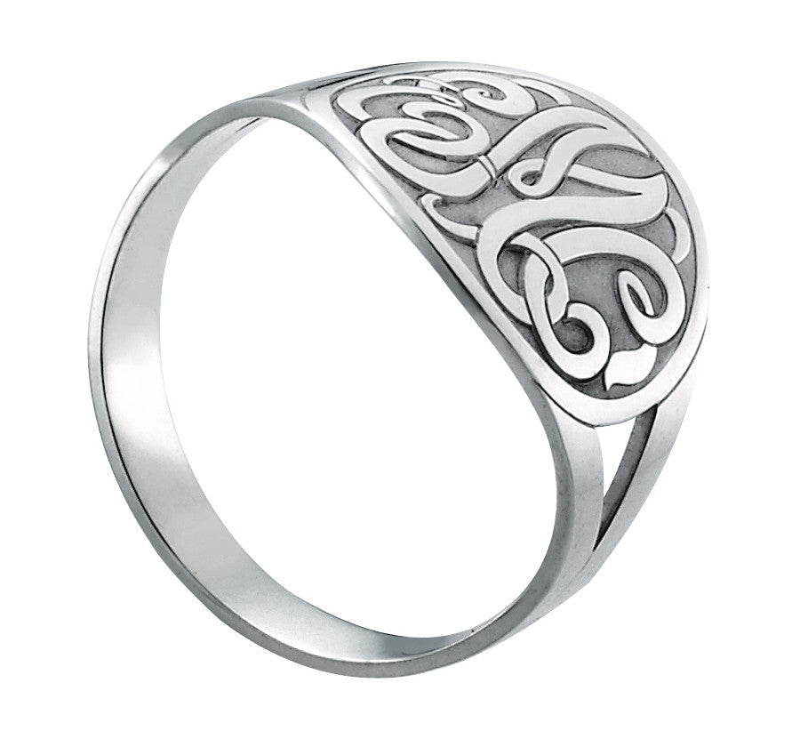 Enclosed Circle Script Monogram Ring