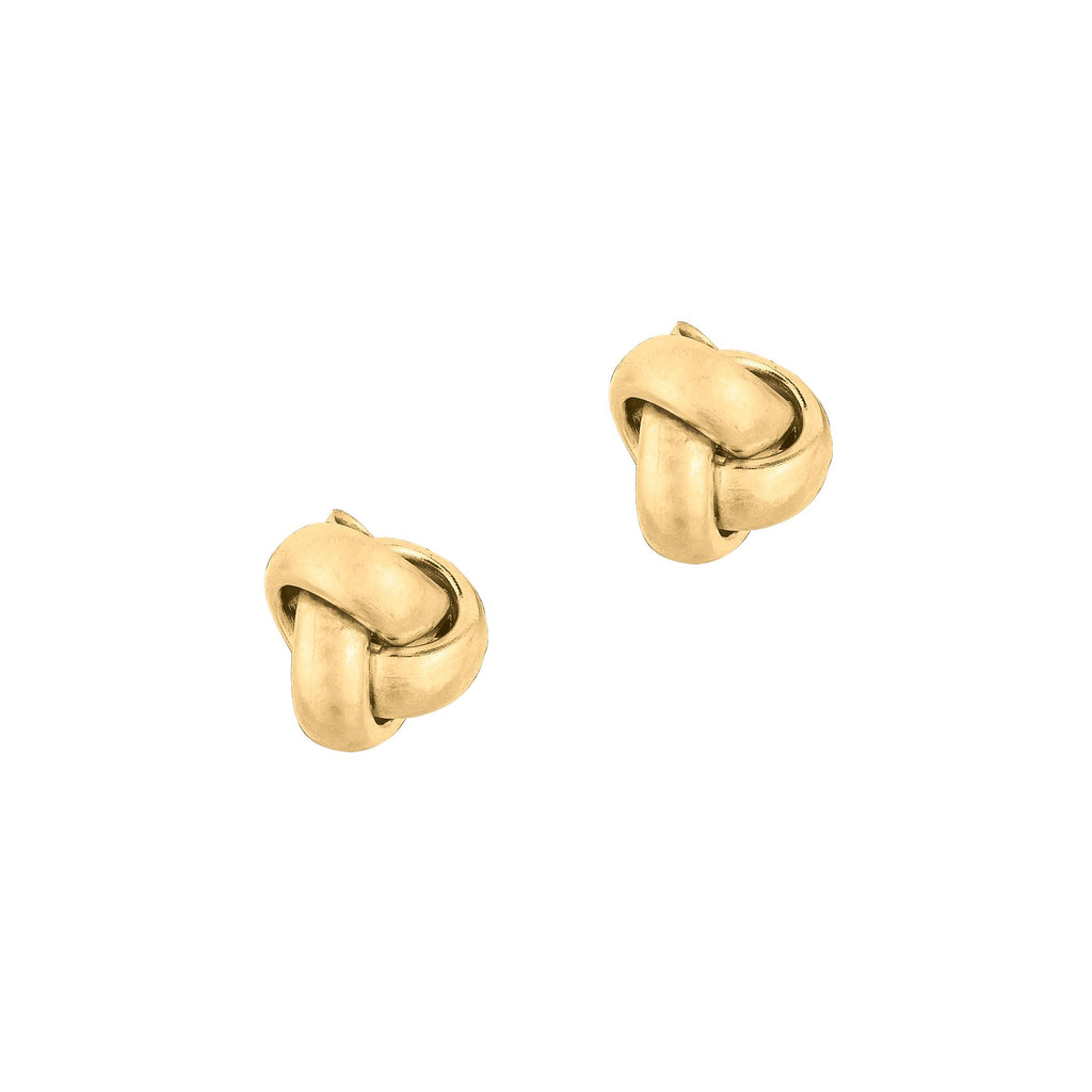 14 Karat Love Knot Stud Earrings