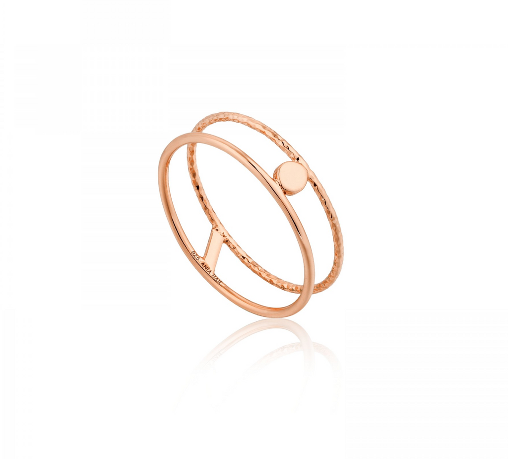 Texture Double Band Ring