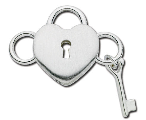 Heart Lock & Key Convertible Clasp