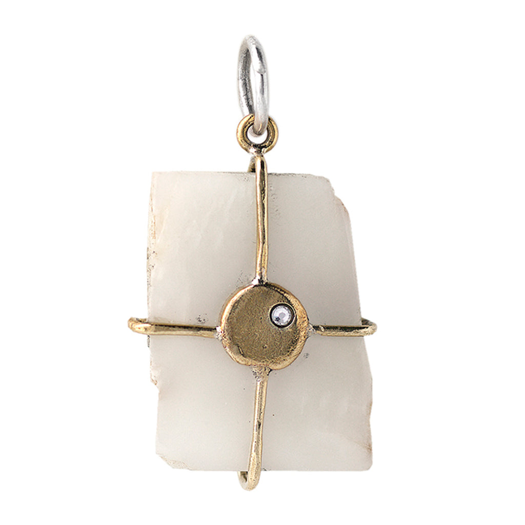 NEW! Touchstone Pendant - Able Goddess Moonstone Talisman