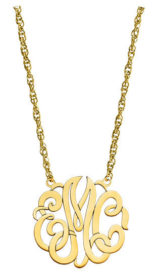 Traditional Script Monogram Necklace