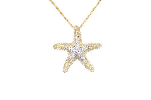 14KT & Diamond Sea Star Pendant