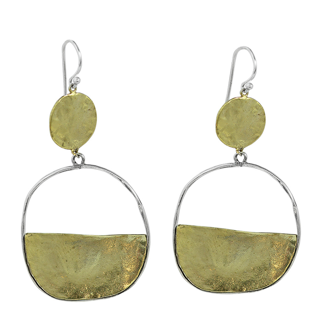 NEW! Vista Earrings -Brass