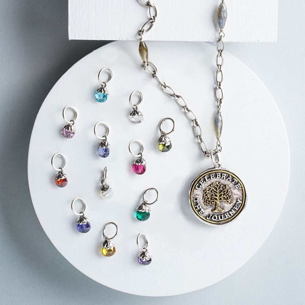 NEW! Tiny Light Birthstone Charm- ALL 12 Months