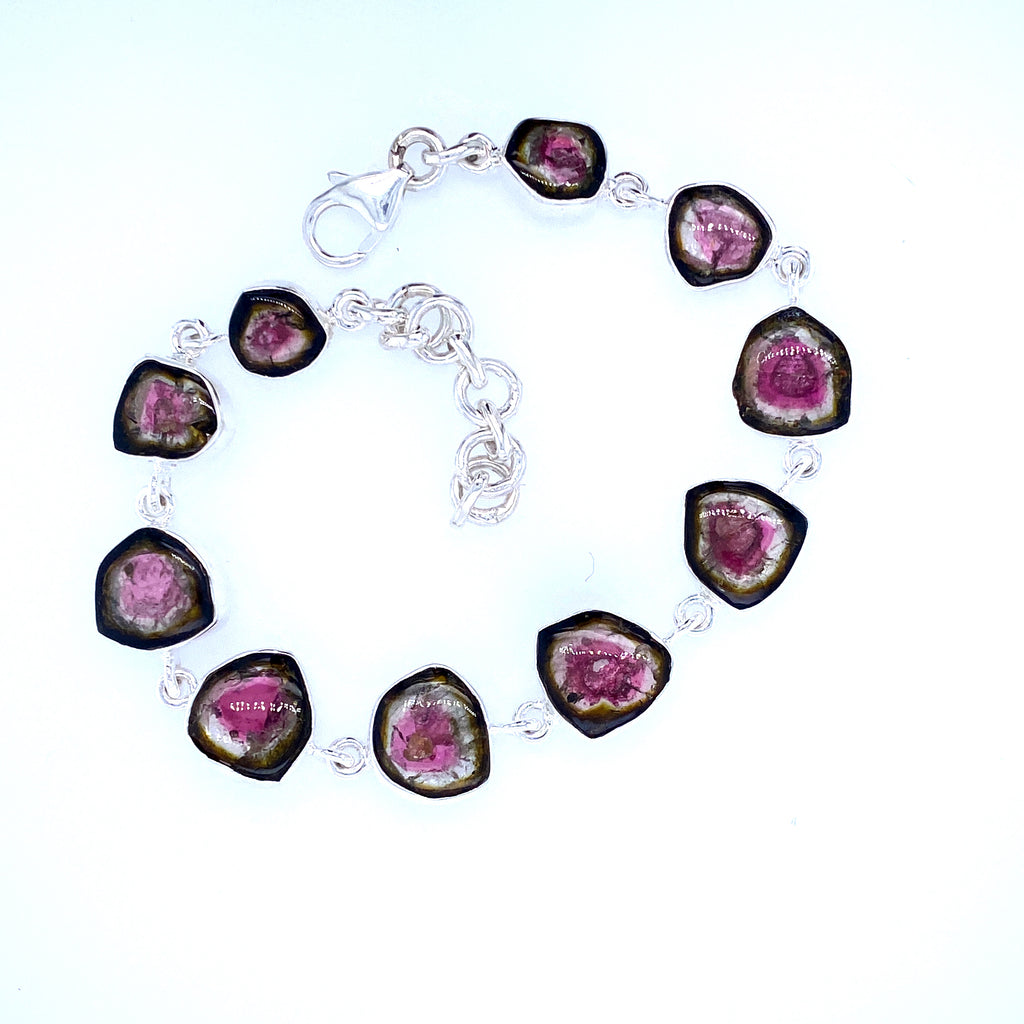 Watermelon Quartz Bracelet