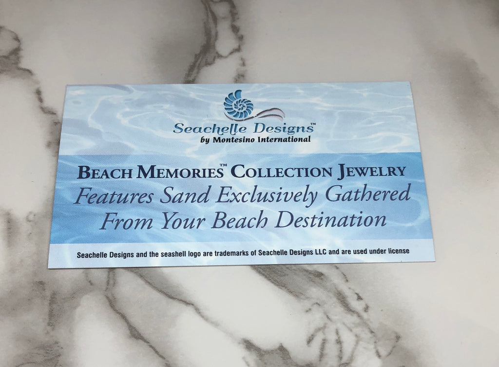 "Virginia Beach Murano Bead : "" Sand & Water """