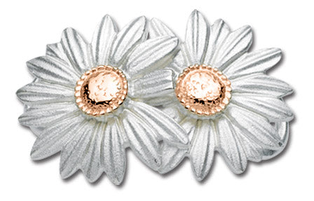 Daisies- 14K Rose Gold & Sterling Silver