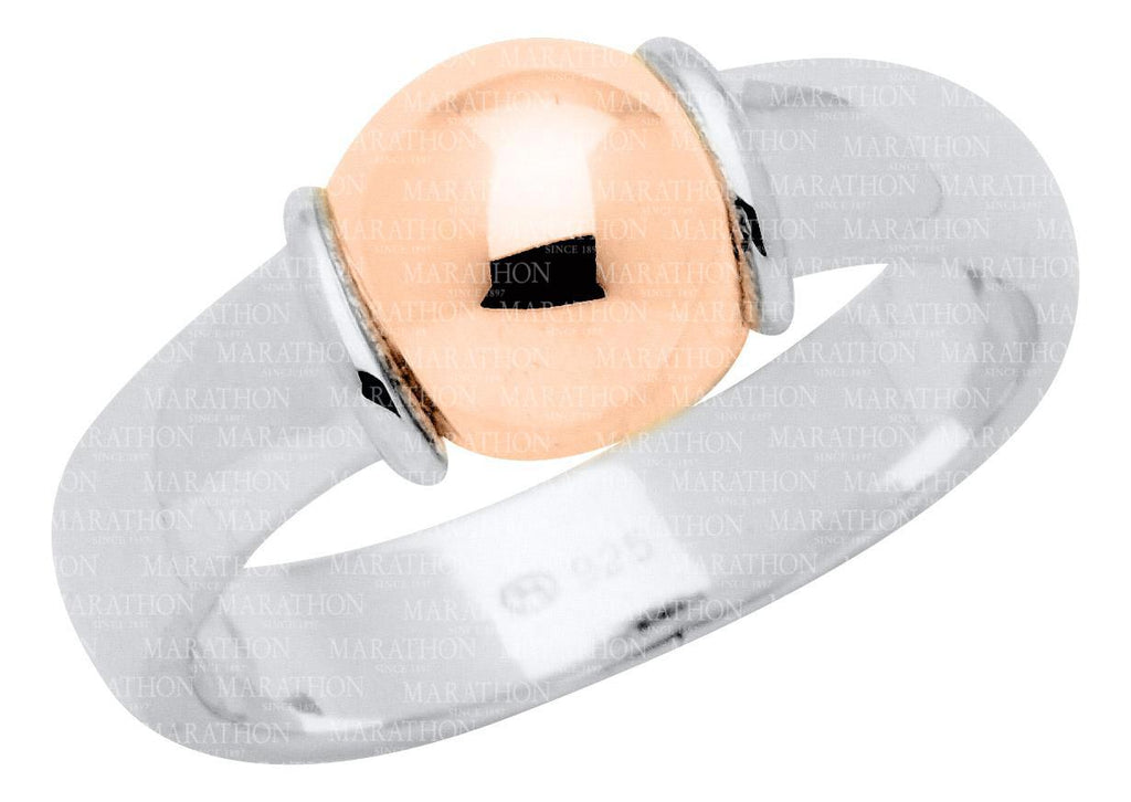 CAPE COD SS-14K ROSE GOLD BEAD RING