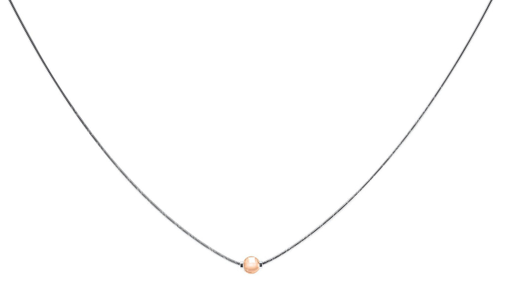 SS/14K ROSE CC NECK- 16″ CHAIN