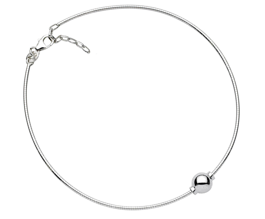 SS CC ANKLET-1 BEAD-10″ CHAIN