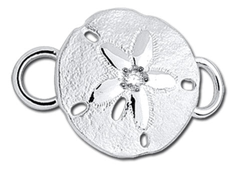 SS Sanddollar with Diamond Convertible Clasp