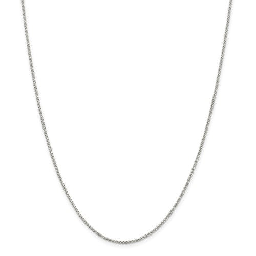 Sterling Silver Round Wheat Chain