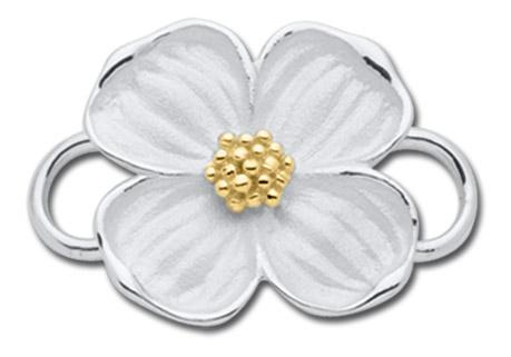 Dogwood 14K & Sterling Silver
