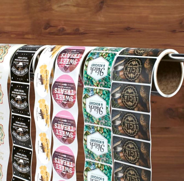 Roll Labels Oval Stickers