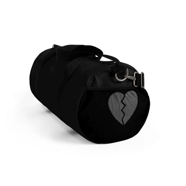 Broken Heart Black Duffel Bag