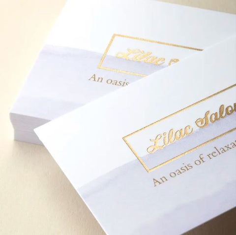 Foil Accent Business Cards