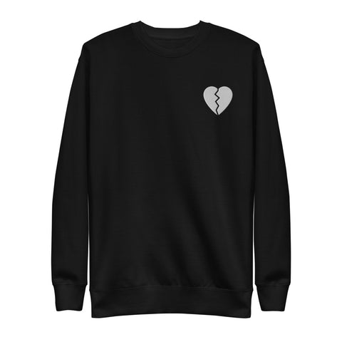 Broken Heart Black Unisex Sweatshirt