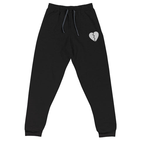Broken Heart Black Unisex Joggers