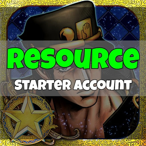 Jojo's Bizare Adventure - Fresh Resource Starter Accounts