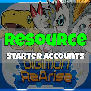 Digimon ReArise - Fresh Resource Starter Accounts