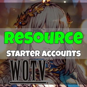War of the Visions FFBE - Fresh Resource Starter Accounts