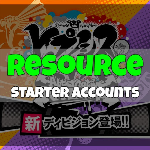 Hypnosis Mic Alternative Rap Battle - Fresh Resource Starter Accounts