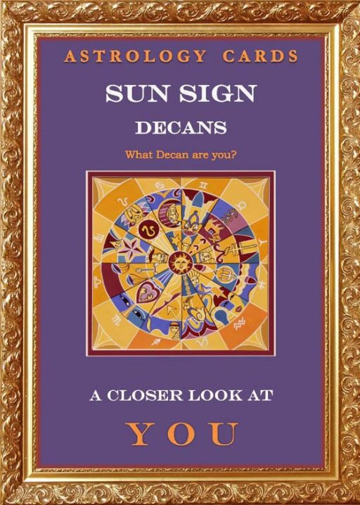 Sun Sign Decans: Astrology cards