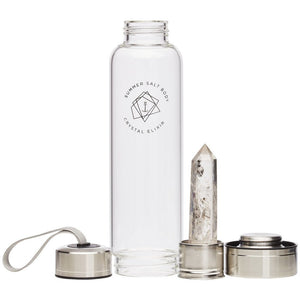 Crystal Elixir - Glass Water Bottle