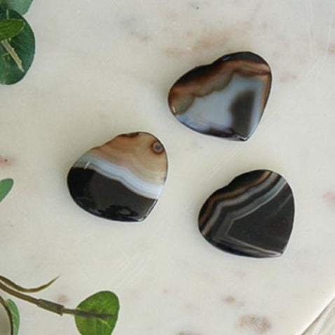 Black Agate Heart