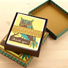 Load image into Gallery viewer, Thank You Owl Boxed Cards