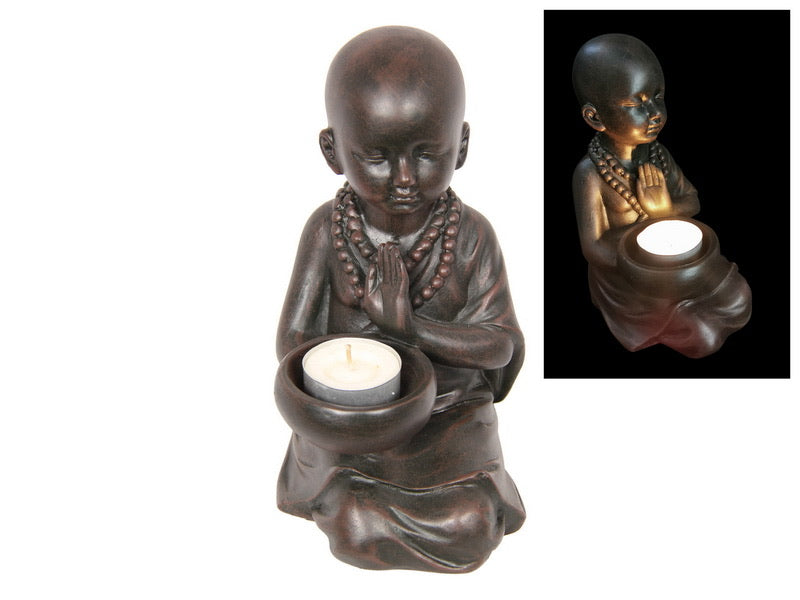 Kneeling Monk Tealight Holder