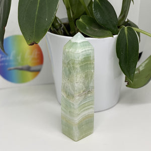 Pistachio Calcite Tower