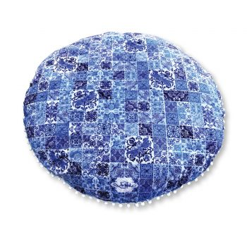 Vintage Blues Outdoor Picnic Cushion