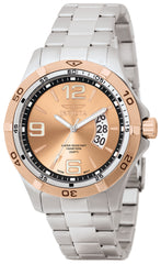 Invicta Men's 0085 Specialty Quartz 3 Hand Rose Gold Dial Watch