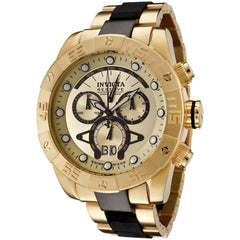 Invicta Men's 0333 Reserve Quartz Chronograph Gold Dial Watch