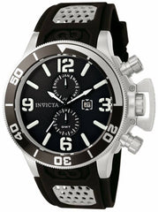 Invicta Men's 0756 Corduba Quartz Chronograph Black Dial Watch
